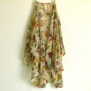 Band of Gypsies Floral Kimono/Coverup M/L
